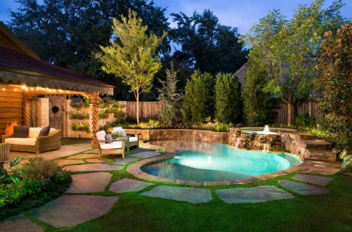 gartengestaltung vorgarten gestalten gartenpool | garten, Gartenarbeit ideen