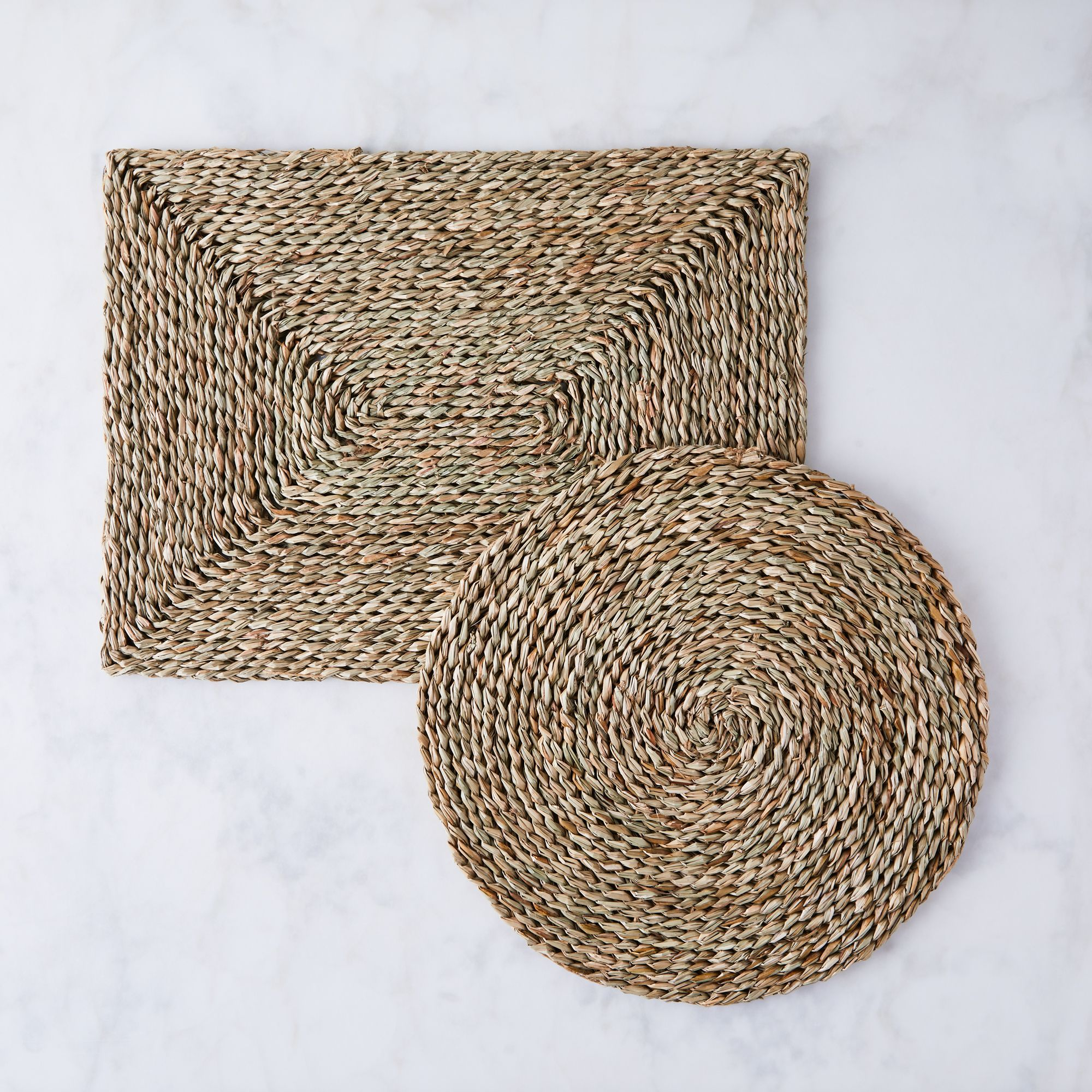 Woven Seagrass Placemat Set Of 4 Wicker Placemats Placemats Natural Placemats
