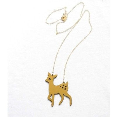 Spotted Deer Gold Necklace