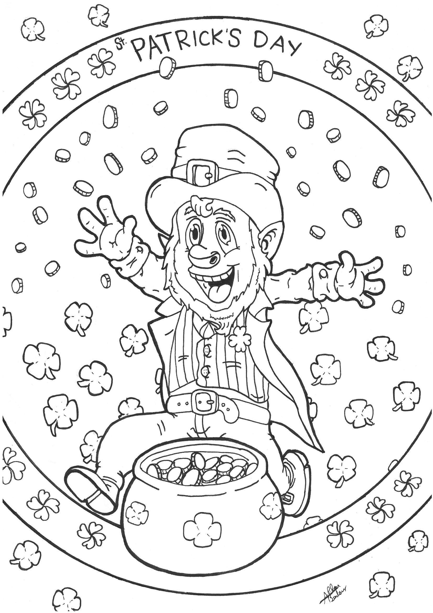 A Free Leprechaun Coloring Page Cool Coloring Pages Mickey Mouse Coloring Pages Coloring Pages [ 2338 x 1653 Pixel ]
