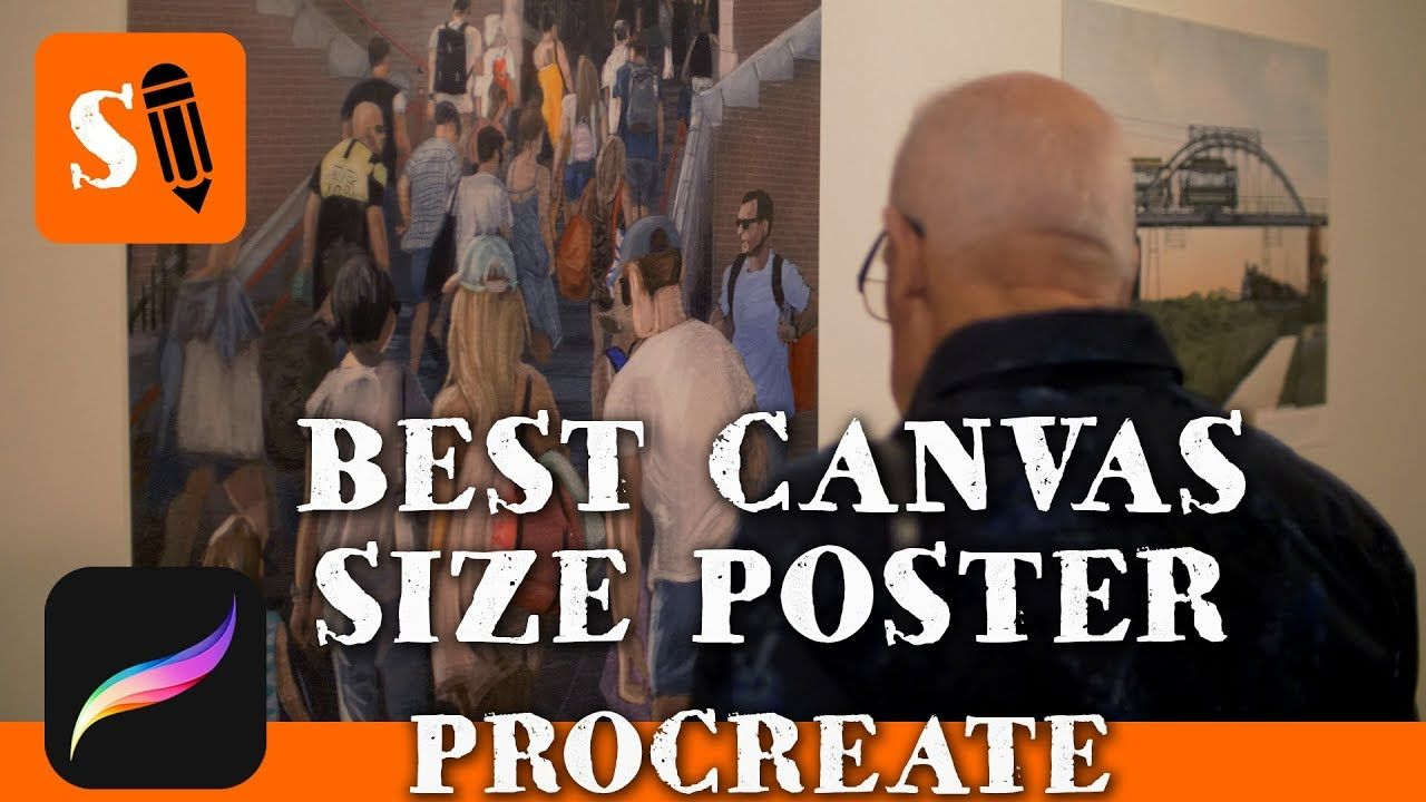 Best Canvas Size For Big Posters In Procreate Youtube Best Canvas Canvas Size Procreate