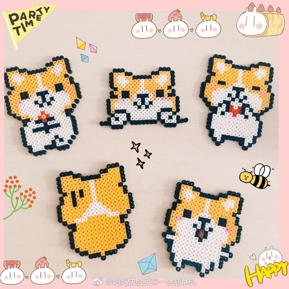 Kawaii Panda Perler Bead By Geektasticcrafts On Etsy 2 99