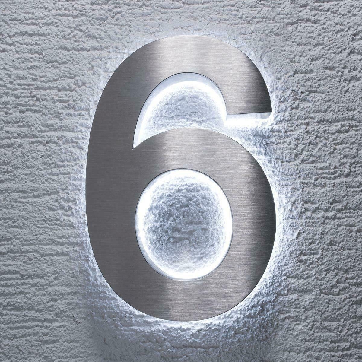 3d Led Hausnummer Edelstahl Ziffern 0 9 A D In 2020 Led Hausnummer Edelstahl Led Beleuchtung