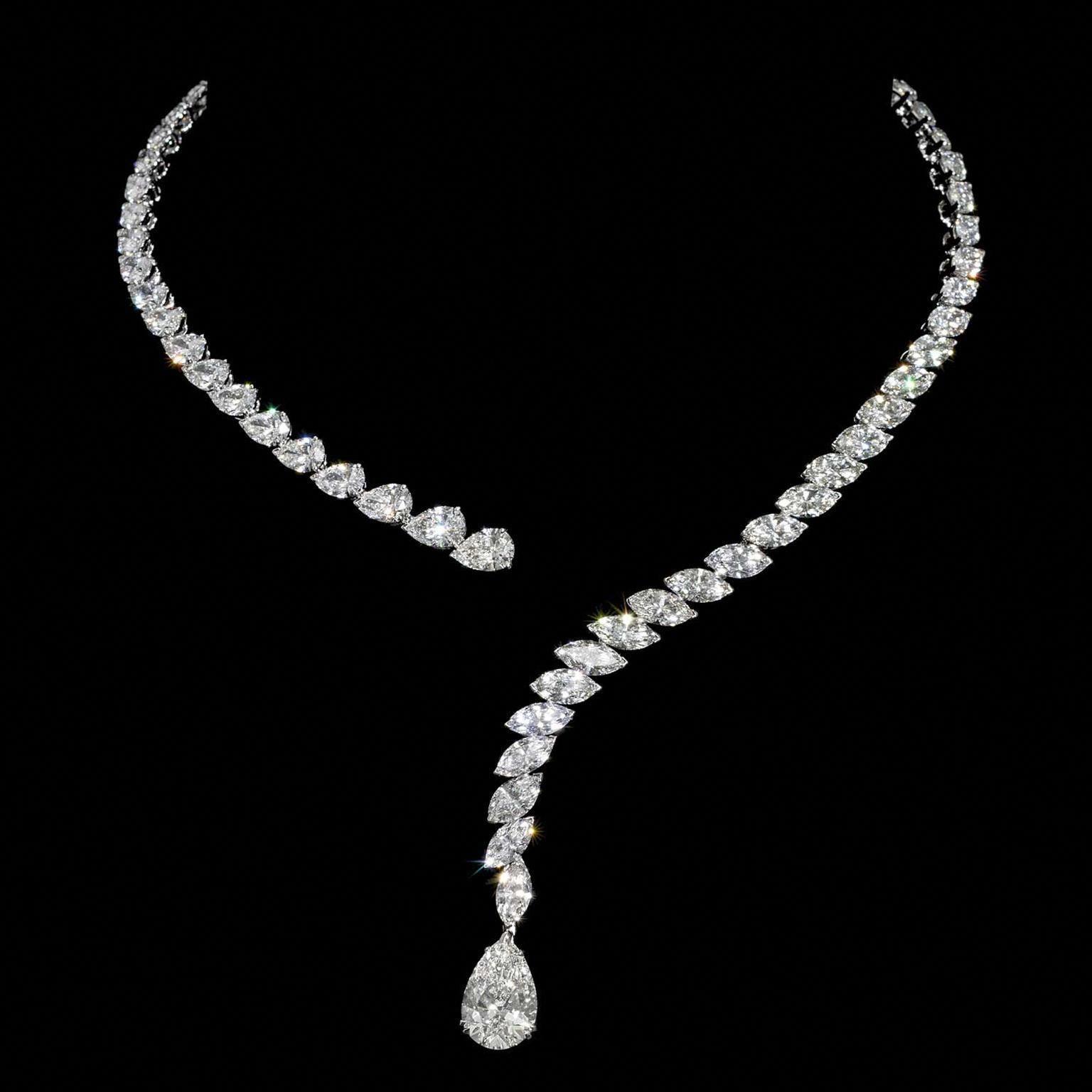 Jahan Draped Diamond Necklace Diamondpendantnecklace Beautiful Diamond Necklace Diamond Necklace Diamond Jewelry Necklace