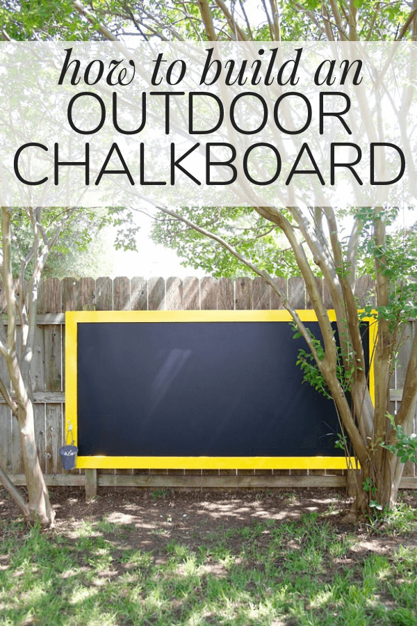How to build an outdoor chalkboard for your fence - it's a great activity for the kids, and it looks beautiful in the backyard!