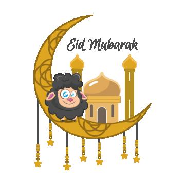 عيد الاضحى خروف مبارك مسلم مهرجان خلفية ديكورات العربي ناقلات الاحتفال اسلاميات اسلام بطاقة تحية الشهر ا Eid Mubarak Eid Stickers Eid Greetings