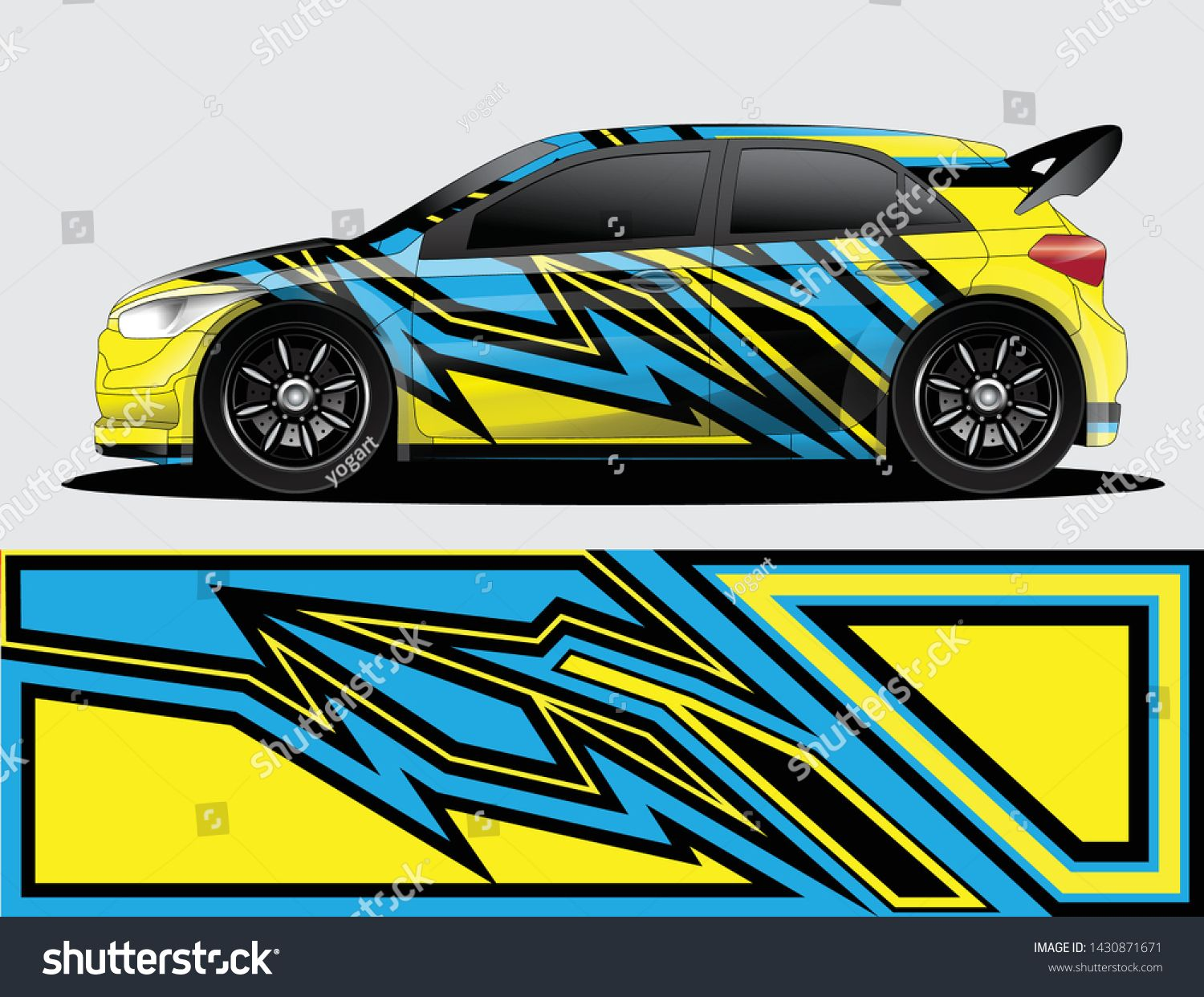 Rally Car Decal Graphic Wrap Vector Abstract Background Mobil Balap Mobil Pembalap