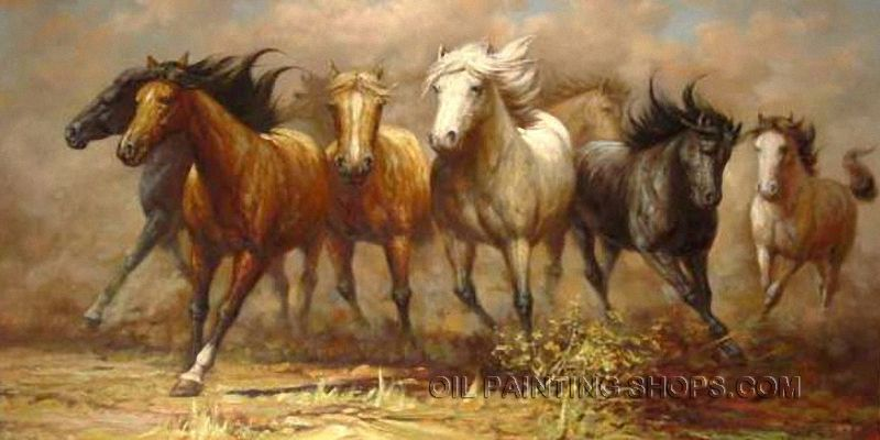 Framed Online Painting Reproduction Animal Horse Paintings Sale ...