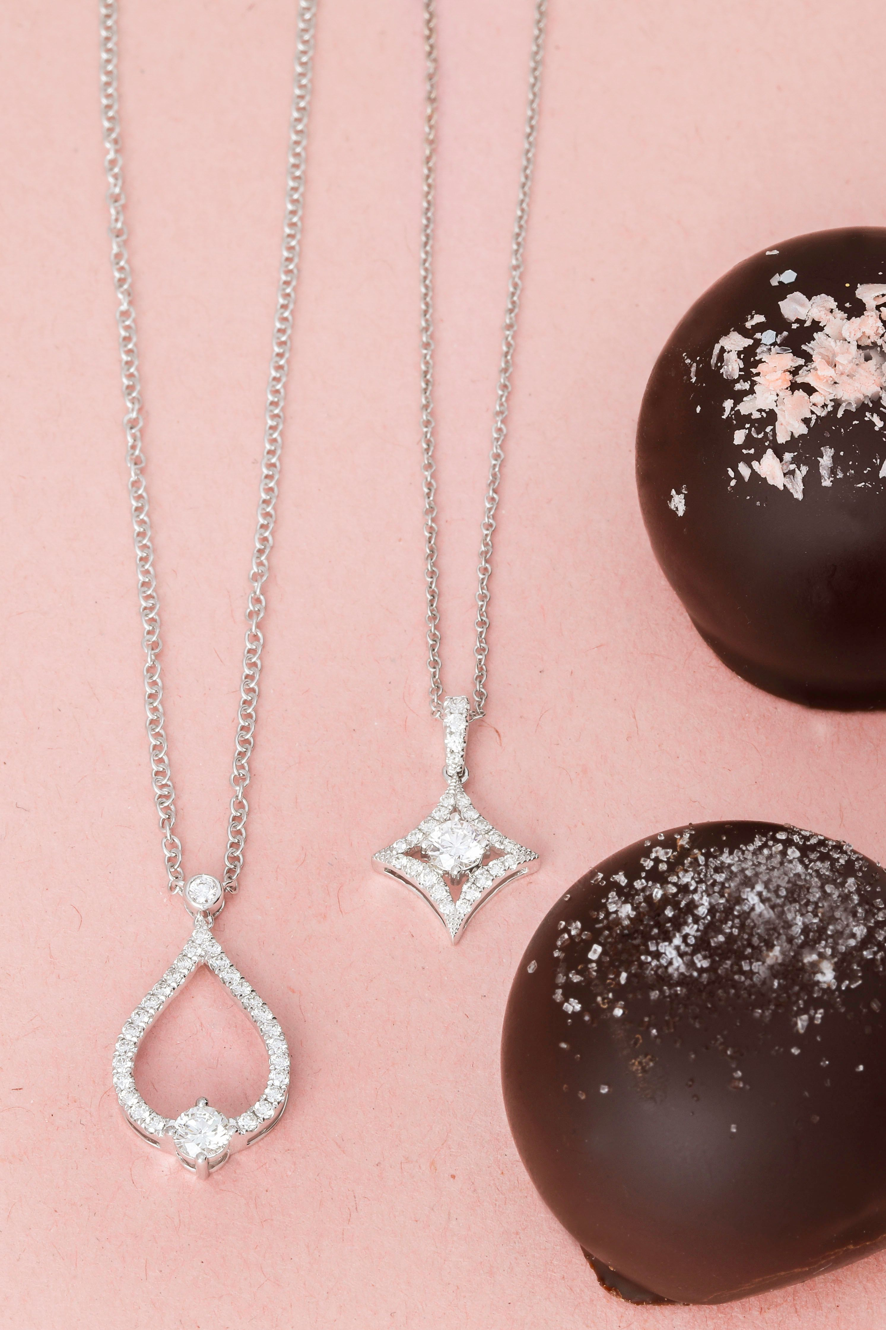 Diamonds and chocolate...the perfect pair. Luxury