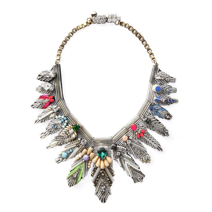 Memphis necklace   Jewelry, Shourouk jewelry, Art deco ...