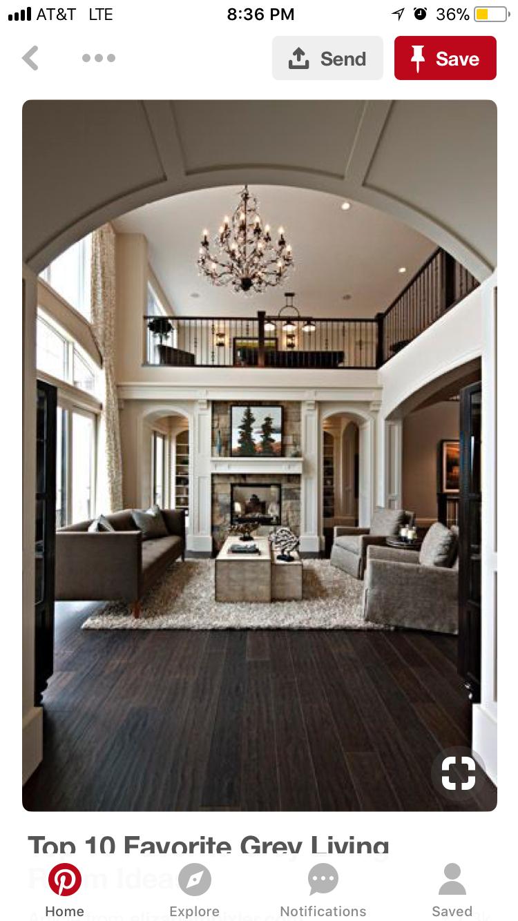 Master bedroom hardwood floors  Love the library room behind the fireplace Good buffer between