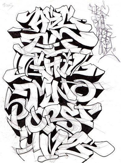 Graffiti alphabet sketch a z letters by mr poem graffiti alphabets graffiti letters - Lettre graffiti modele ...