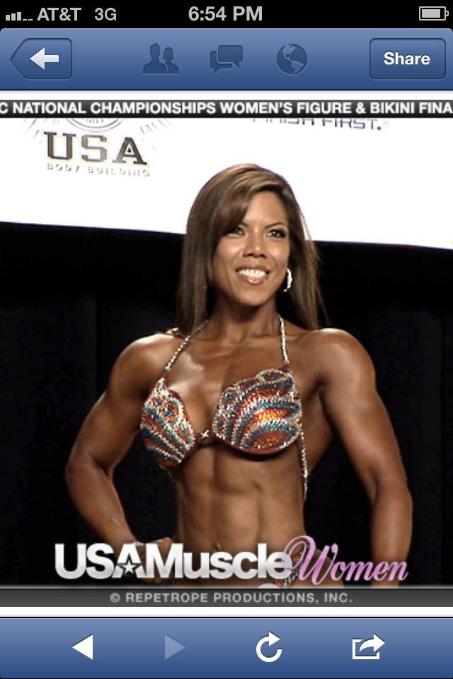National Figure Competitor Christine Gardner USAMuscle