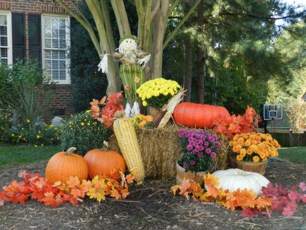 Coole Halloween Deko Ideen Kürbisse Wohnung Fest Garten