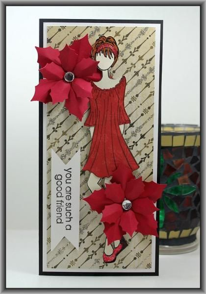 Prima Doll Christmas Card by Ashdale - Cards and Paper Crafts at Splitcoaststampers