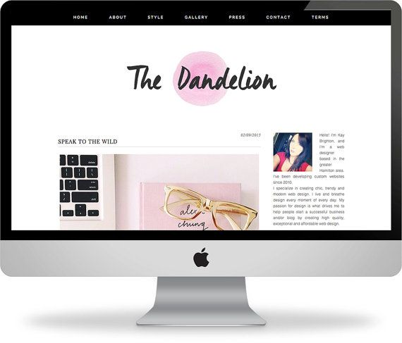 Premade Wordpress Template  Instant Download  by KayBrighton