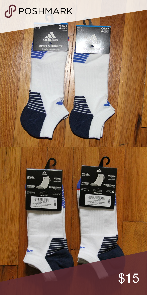 Adidas Socks Men/'s Superlite 6 Pack No Show