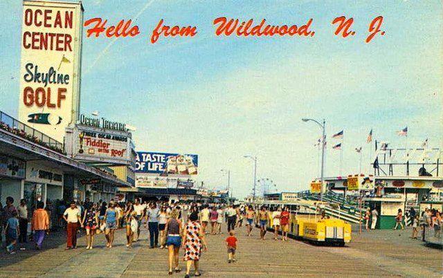 The Wildwoods Boardwalk Circa 1971 Wildwoods History Beaches