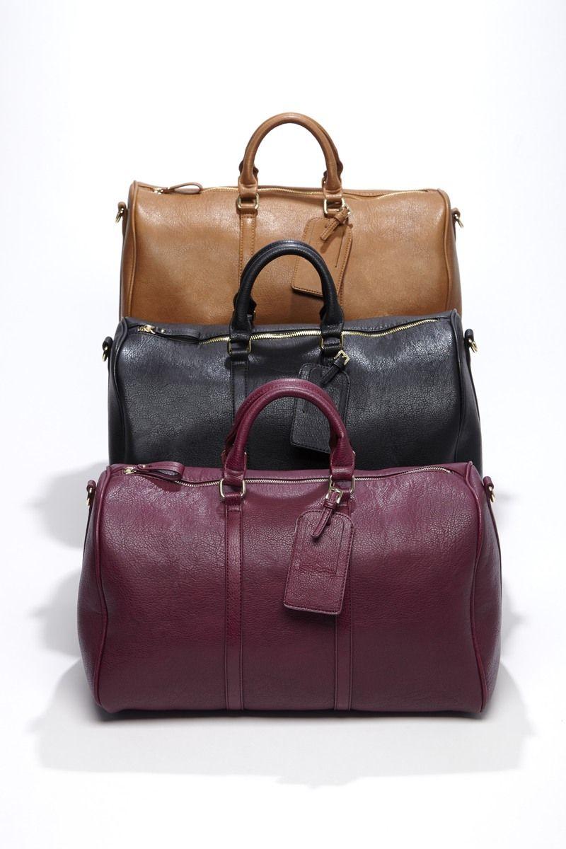 3a3157fce8b5 Top handle vegan weekender bag with adjustable