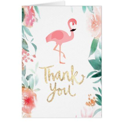 Pink Flamingo Thank You Typography Zazzle Com Thank You Typography Typography Card Pink Flamingos