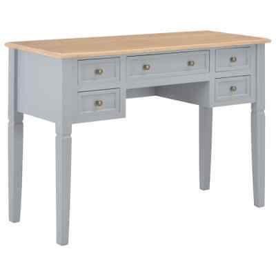 vidaXL Writing Desk Gray 43.1