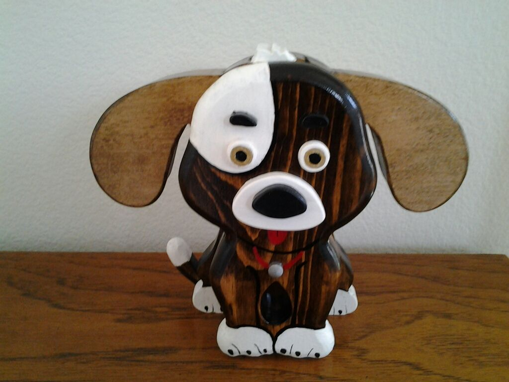 Puppy Bank 9 Tall Wood Puppy Bank Is Made Up Of 7 Layers Coin