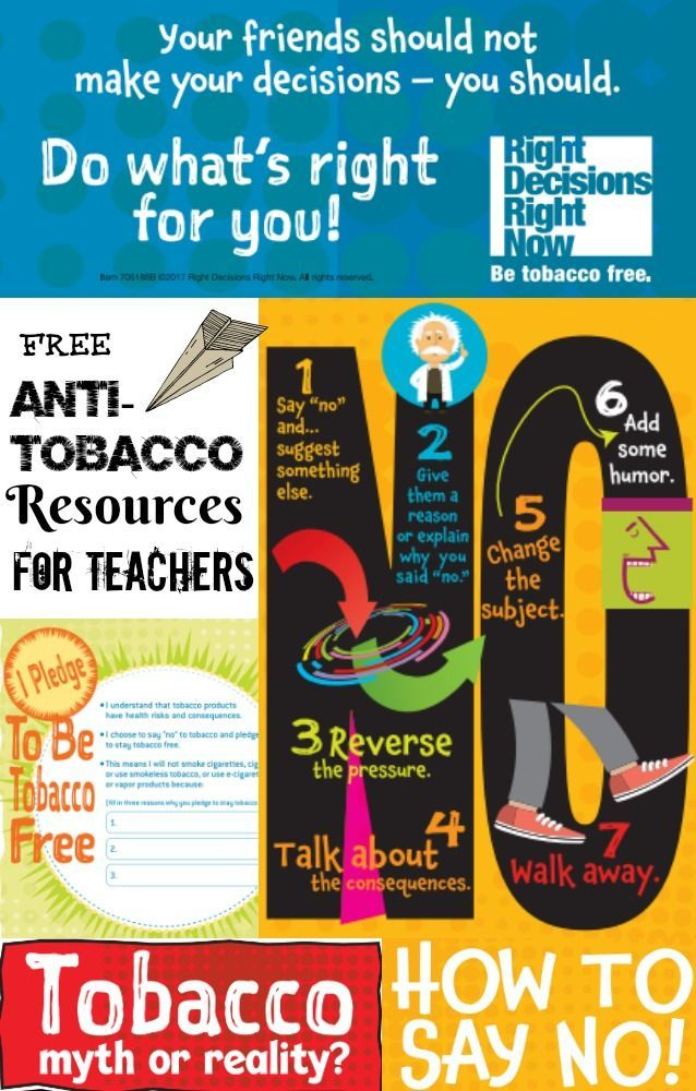 Free Anti Tobacco Educational Materials For Teachers Contest Our