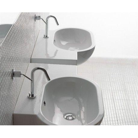 Globo Waschbecken waschbecken bowl 75 51 sx weiss ceramica globo sc022 bi bad