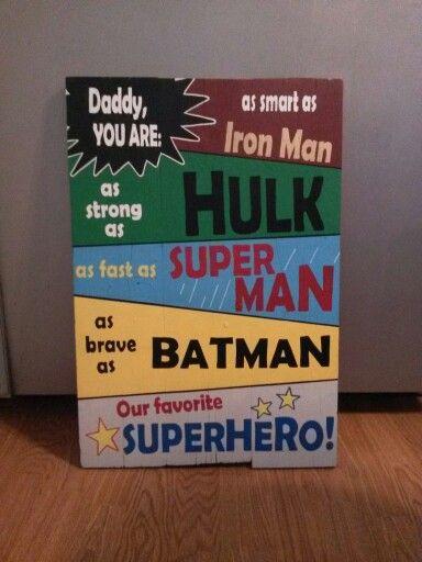 Super hero pallet sign for dad!