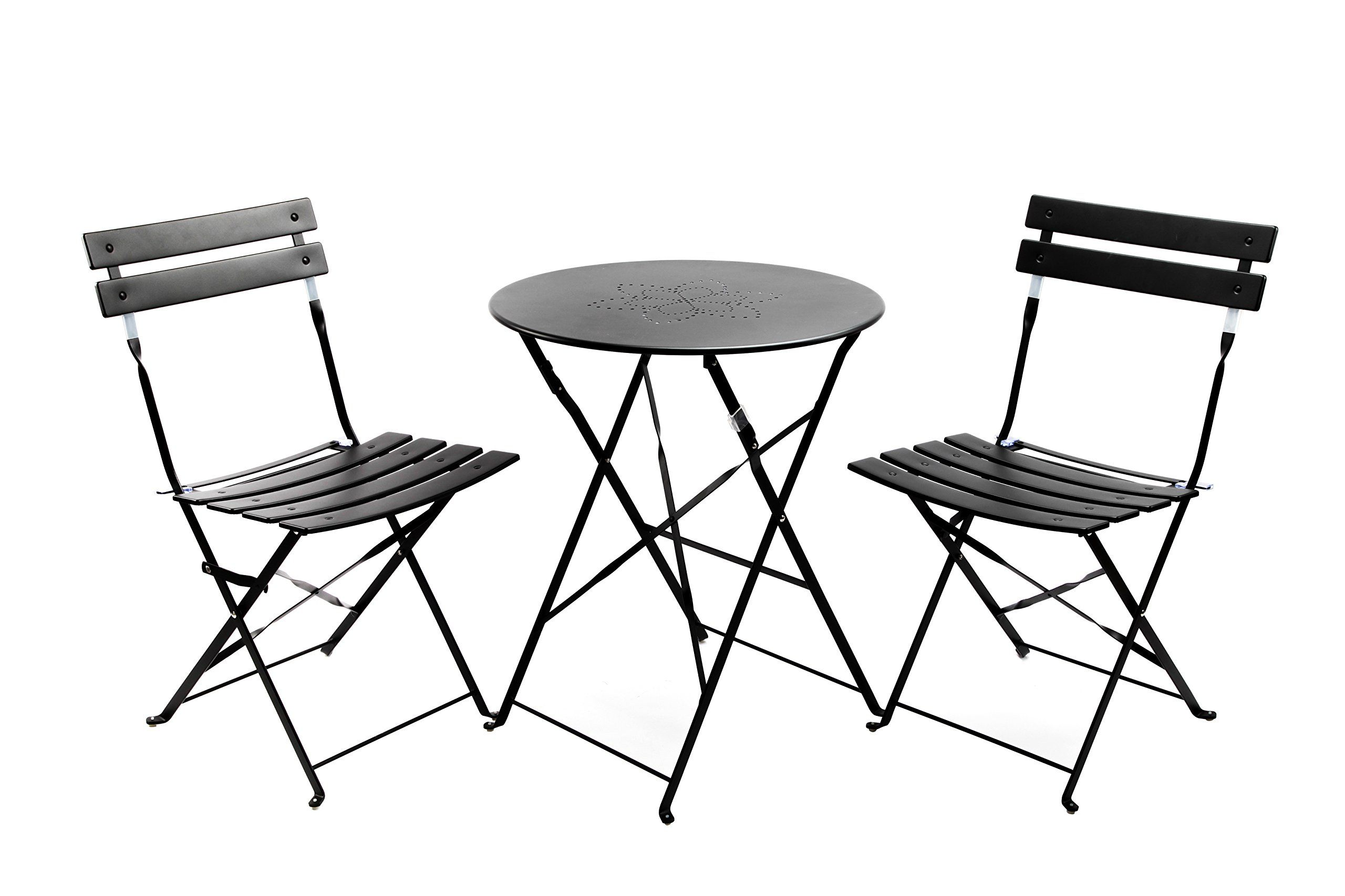 Finnhomy Slatted 3 Piece Outdoor Patio Furniture Sets Bistro Sets Steel Folding Table and Chair Set  sc 1 st  Pinterest & Finnhomy Slatted 3 Piece Outdoor Patio Furniture Sets Bistro Sets ...