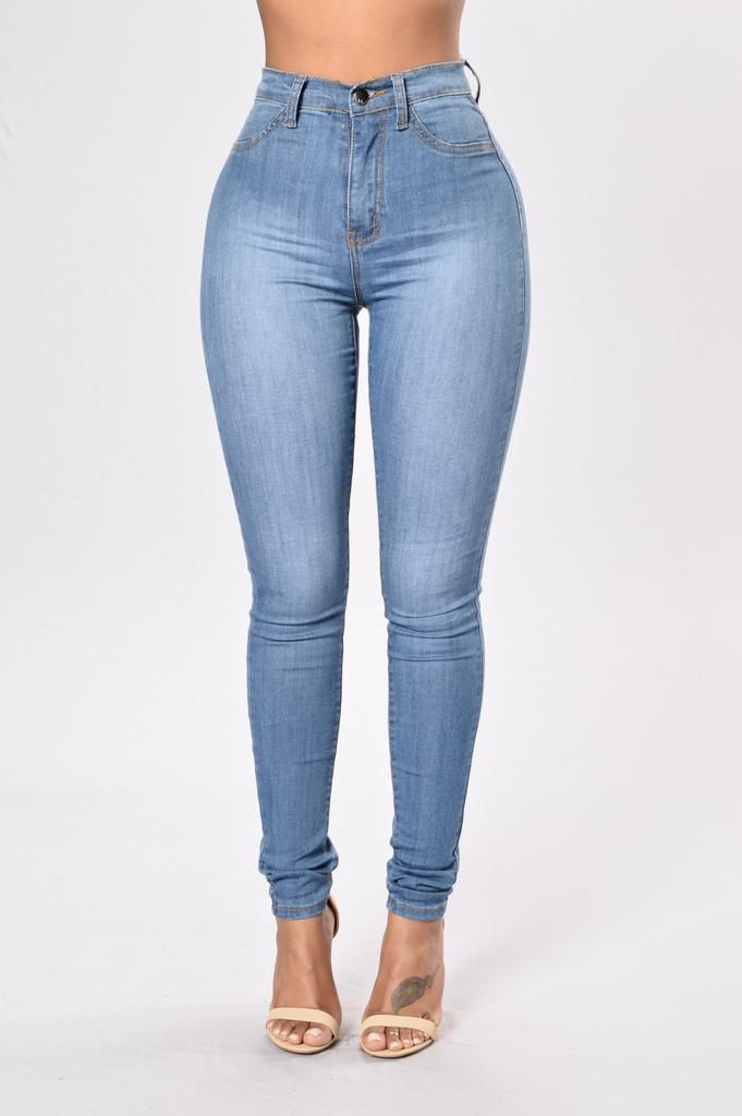 Womens Skinny High Waist Denim Jeans Ladies Wash Slim Jeggings Pants Trousers YA