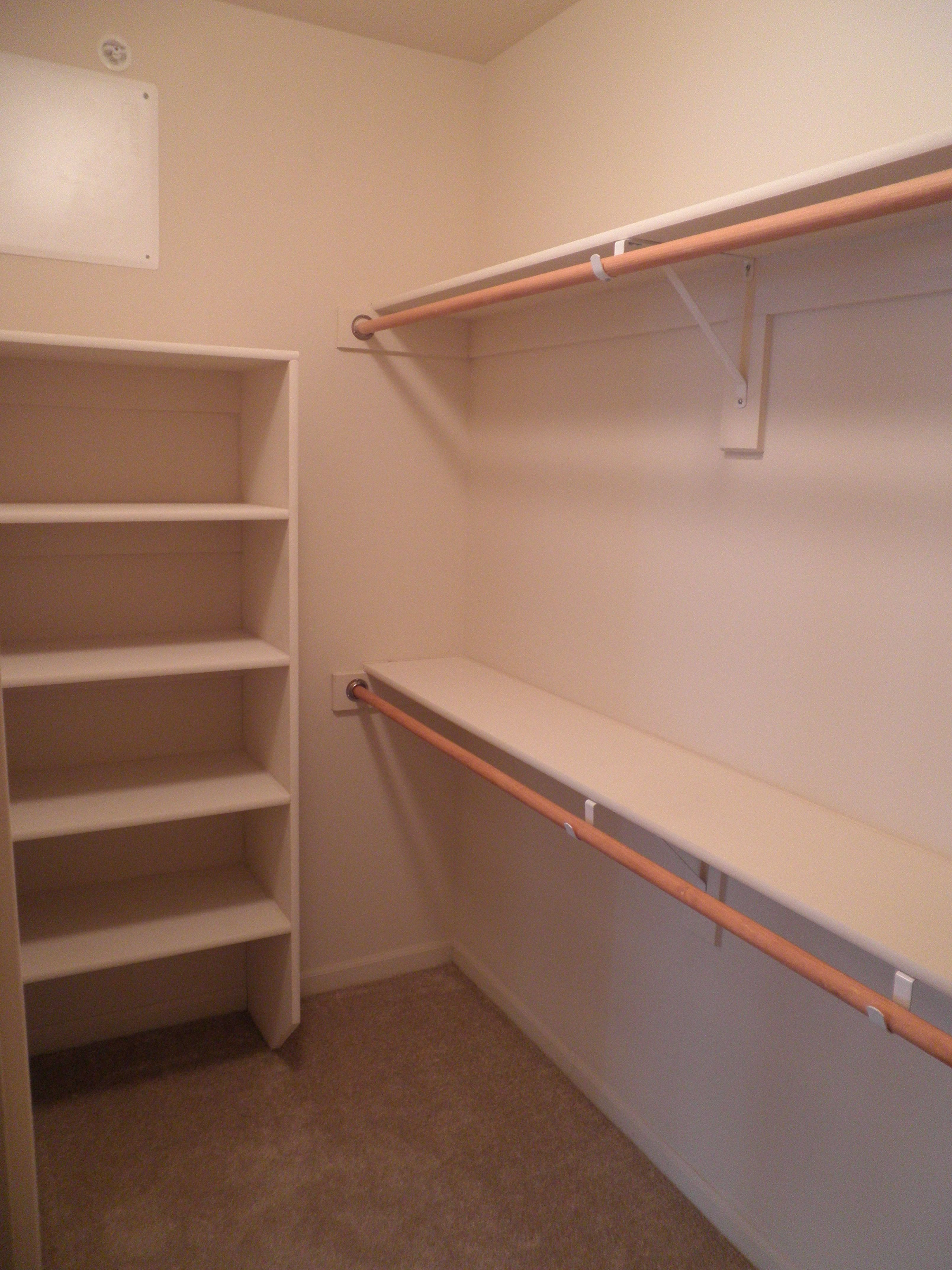 Walkin Closet Cabinets Walk In Closet Shelving Home Spaces Our Way In 2019 Walk In