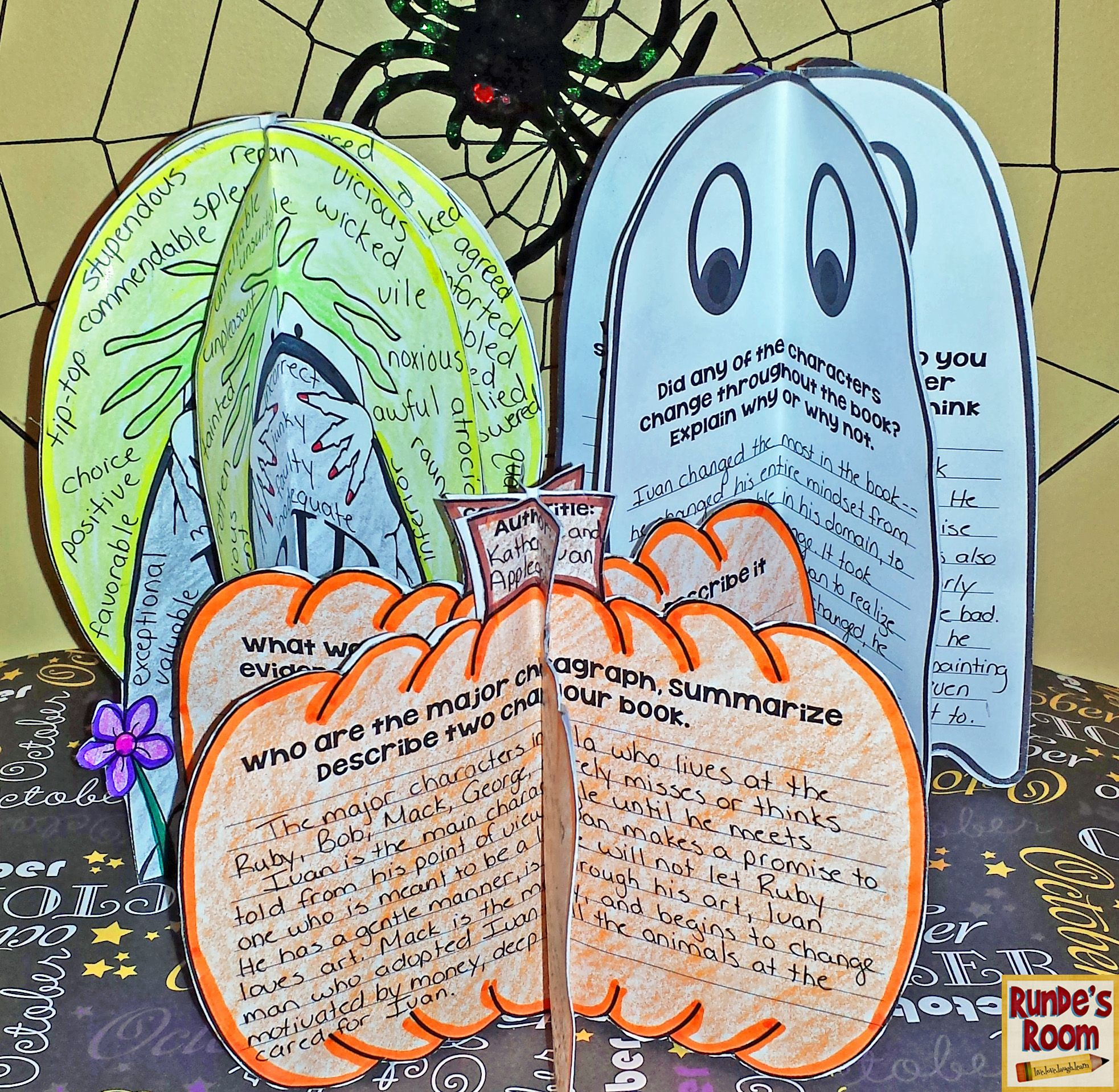 October craftivities for literacy - covers comprehension strategies, story elements, and over-used words.  My students LOVE these!!
