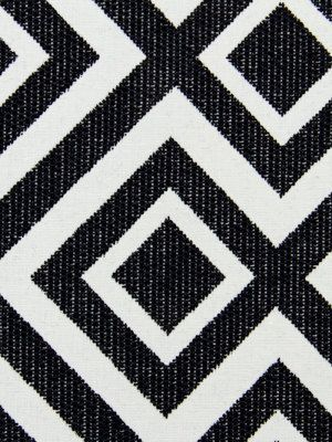 Geometric Upholstery Fabric Black White Fabric By PopDecorFabrics