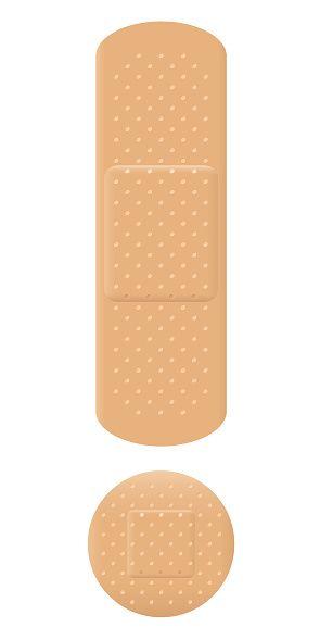 Adhesive Bandage Exclamation Mark Vector Art Illustration Vector Art Illustration Illustration Band Aid