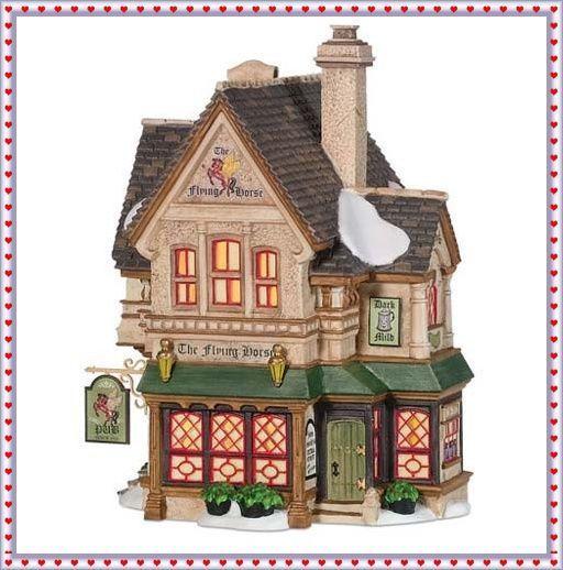 Dept 56 Dickens' Village the Flying Horse Tavern 2009