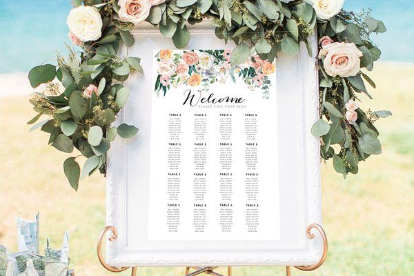 Wedding seat chart template by marham labeling co on creativemarket also rh pinterest