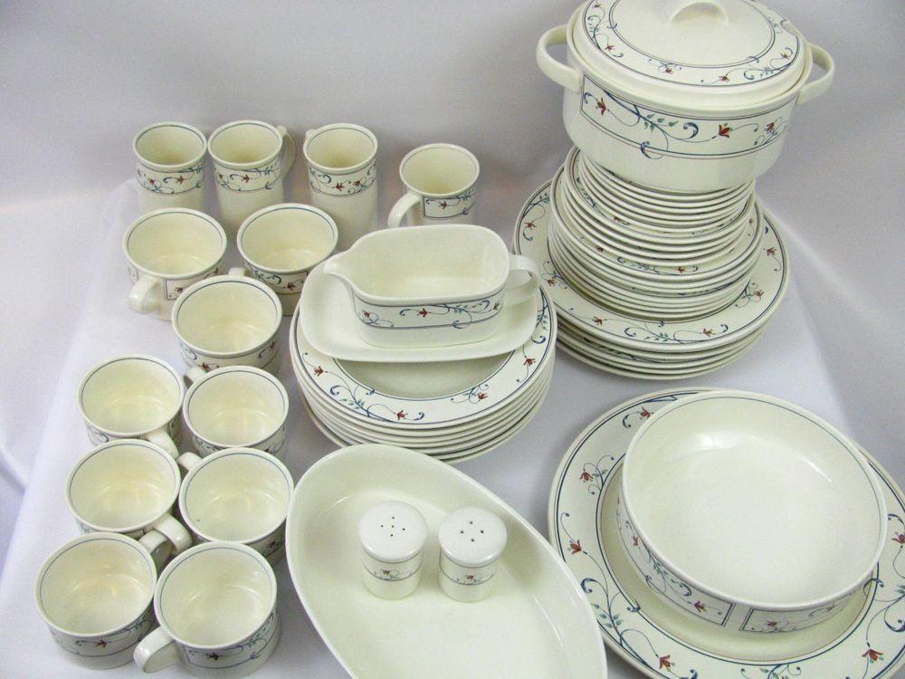 Mikasa Intaglio Annette mugs Soup Bowls Plates Casserole Dinner Mugs Salt Pepper #mikasa & Mikasa Intaglio Annette mugs Soup Bowls Plates Casserole Dinner Mugs ...