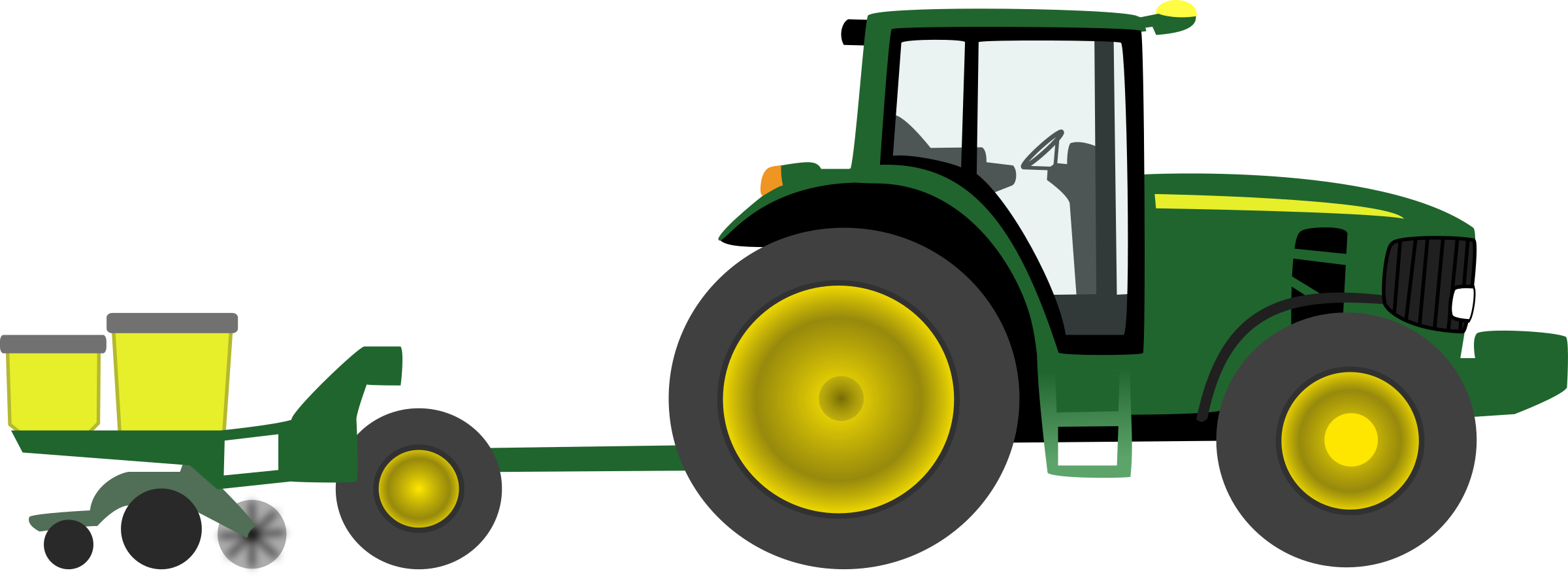 Tractor Planter Png 2400 886 Tractors Green Tractors Tractor Clipart