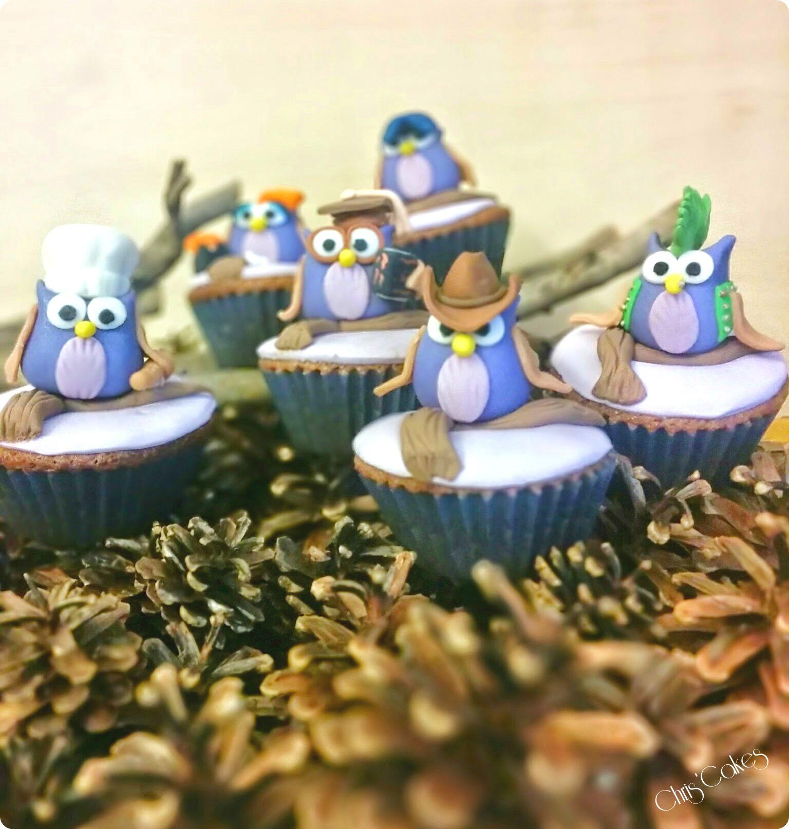 Cupcakes gufi - Owls Cupcakes