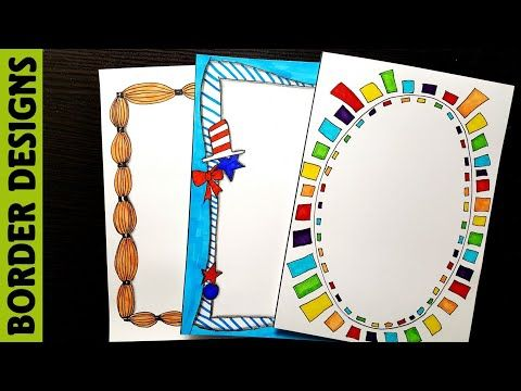 Frames border designs on paper for project work by margin projects easy desi also gla fsh glafsh pinterest rh