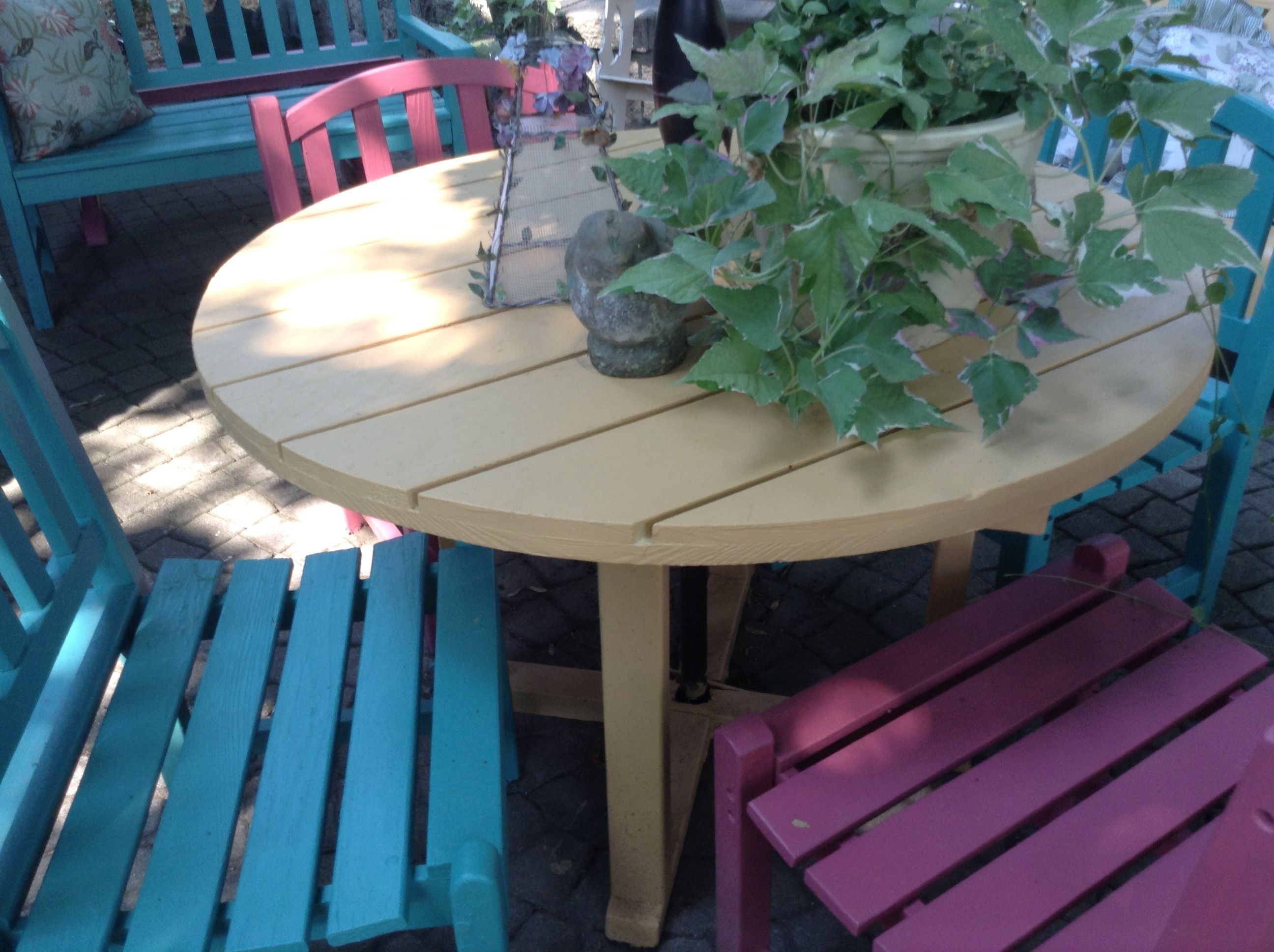 Outdoor Furniture Painted With Annie