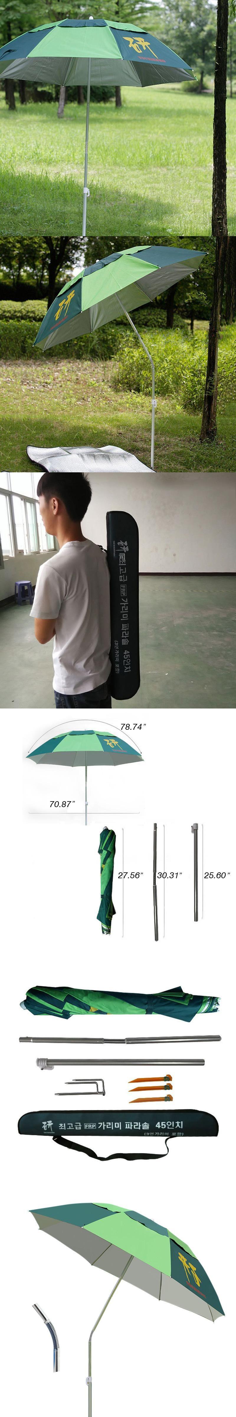Patio Furniture Lightweight Patio Umbrellas Windproof Garden Umbrella  Three Folding Sunshade Rainproof Fishing Umbrella
