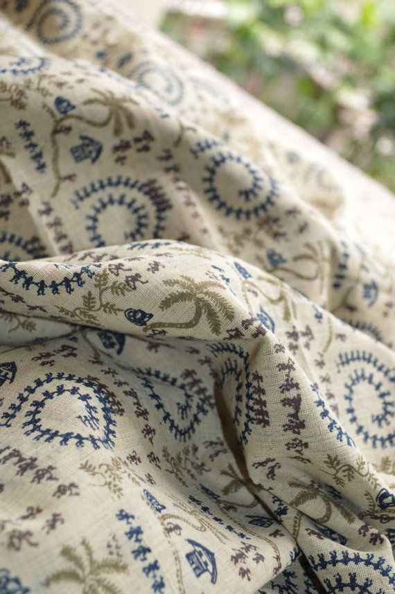 Khadi Village Natural Hand Woven Hand Block Printed Cotton Fabric