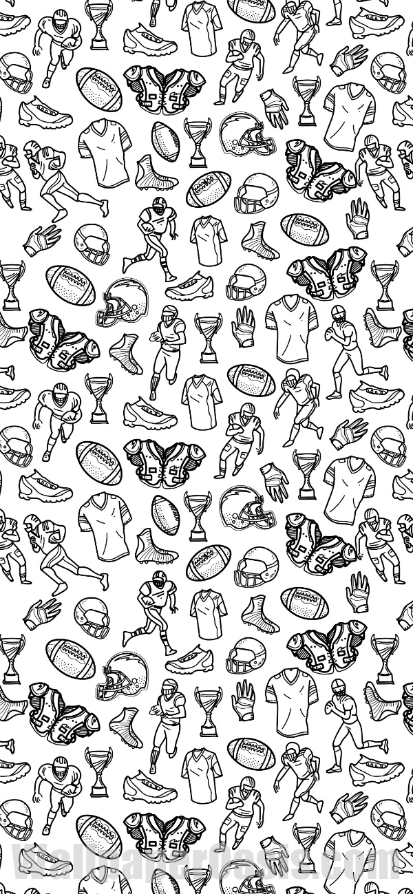 Free Black And White Football Doodle Style Iphone Wallpaper This Design Is Available For Iphone 5 Wallpaper Iphone Quotes Backgrounds Football Doodle Doodles