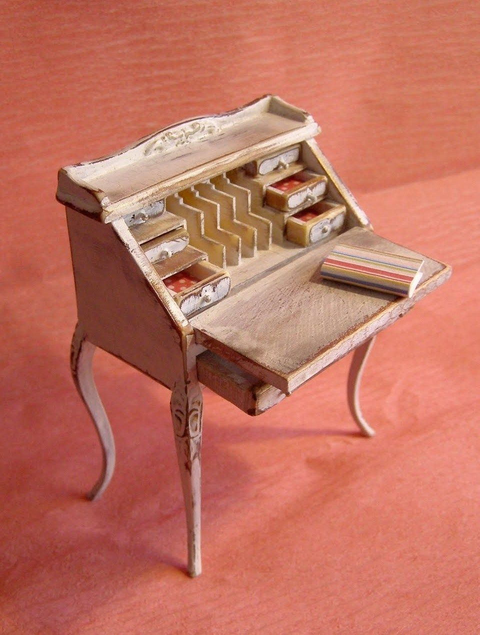 inexpensive dollhouse furniture. How To: Refinishing An Inexpensive Dollhouse Desk Furniture