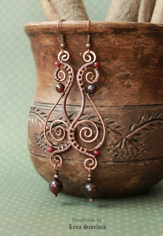 "Photo of Photo from album ""Wirewrap EARRINGS"" on Yandex.Disk"