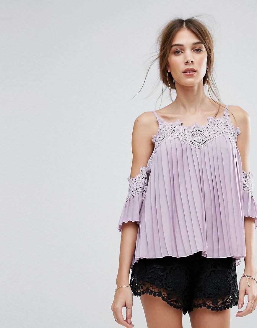 Compra Top hombros descubiertos de mujer color púrpura de New look al mejor  precio. Compara precios de tops de tiendas online como Asos - Wossel España