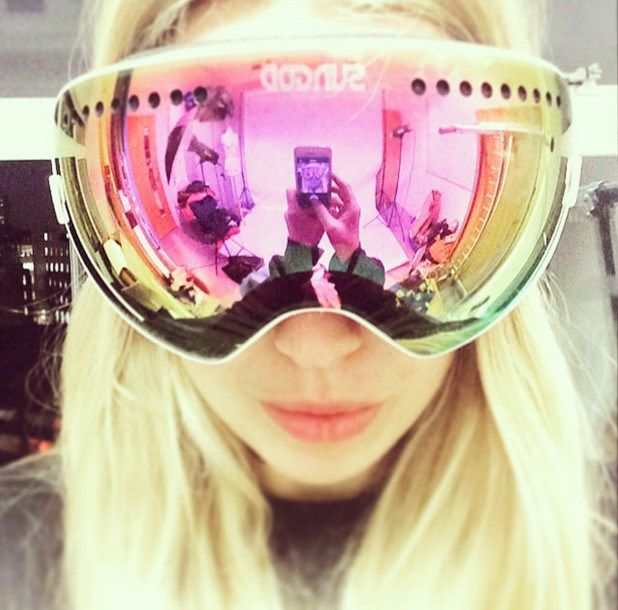 7986e045c62a Cute Pink Snow Goggles For Women