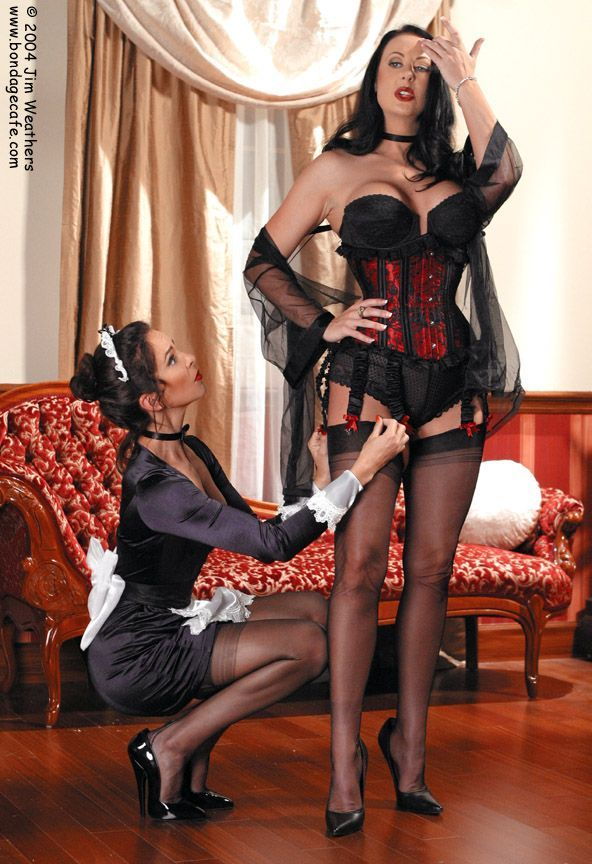 Image result for maid helping mistress